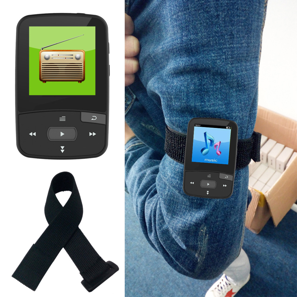 بطاقة Mini Mini X50 بسعة 8 جيجا بايت تدعم بطاقة TF وراديو FM والتسجيل والكتاب الإلكتروني ومشغل موسيقى ساعة التوقيت Sport Clip MP3 Player Bluetooth