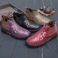 Winter wool cotton shoes fur snow boots men and women shoes middle aged leisure warm non slip soft bottom home shoes