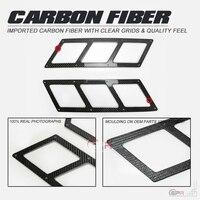 Universal fibra de carbono amortecedor do duto de ventilação ar fibra frente capa guarnição parte kit ajuste entrada ar para civic s2000 rx7 evo gtr mx5