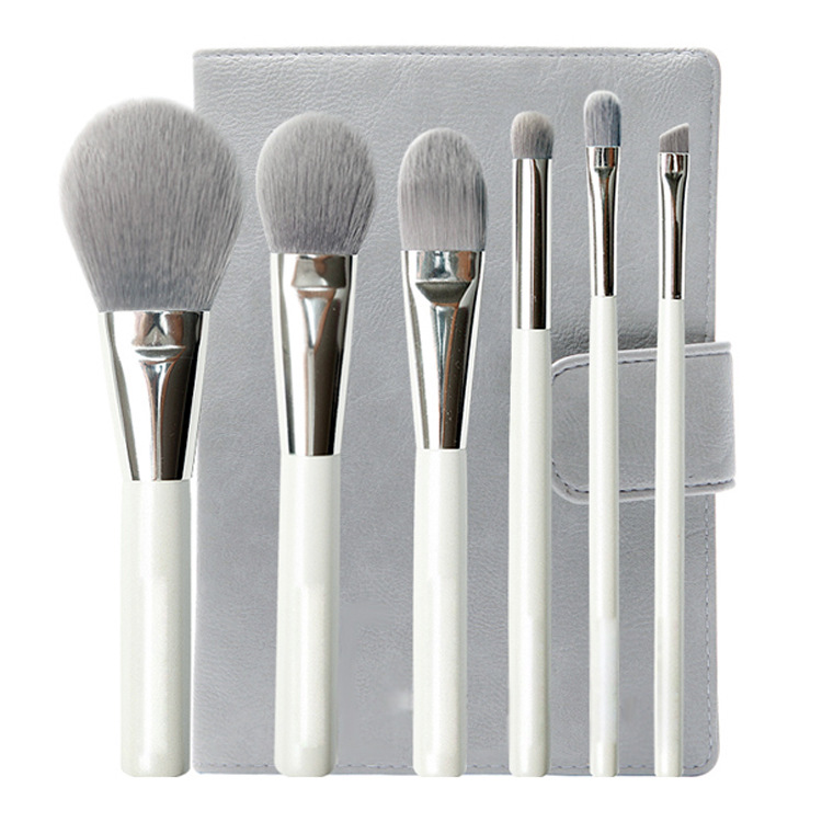 Free Shipping /Professional 6 brush set of high-grade bamboo fiber brushes/makeup brushes/6pec Foundation Powder Make up Tools 5 pieces free shipping ct machine brushes german imports of raw materials with silver graphite 6 6 20mm