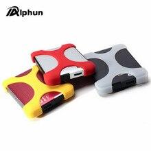 """Alphun 2,"""" портативный внешний жесткий диск сумка чехол для переноски силиконовый резиновый чехол для WD, sony 2,5 дюймов портативный жесткий диск"""