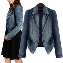 6XL Blazer Large Size Womens Jean Jacket Spring Slim Blue Dzhinsovki Plus Denim Coat Female Outerwear Coats