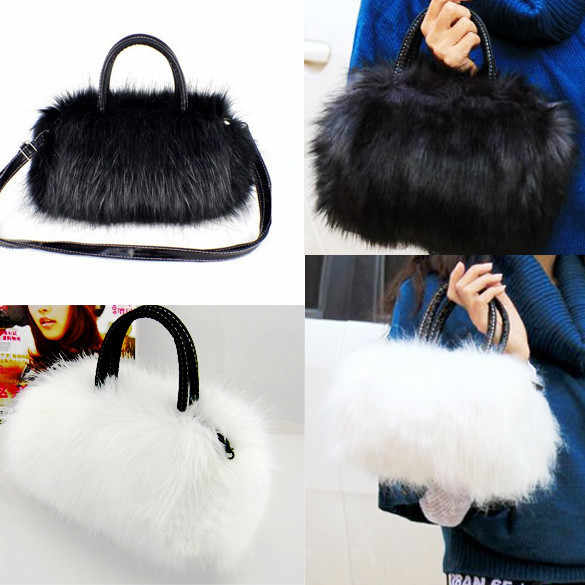 New Lovely women bags Faux Rabbit Fur bags Small Messenger Bag for Women  Crossbody Shoulder Bags 3fc909102748d