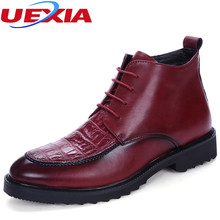Men chelsea boots leather men's boots classic business office formal ankle boots men shoes male Footwear Masculina Botas Hombre