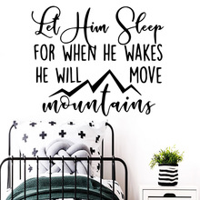 Removable let him sleep Removable Art Vinyl Wall Stickers Bedroom Nursery Decoration Decal Creative Stickers dr moussa toure loose him and let him go
