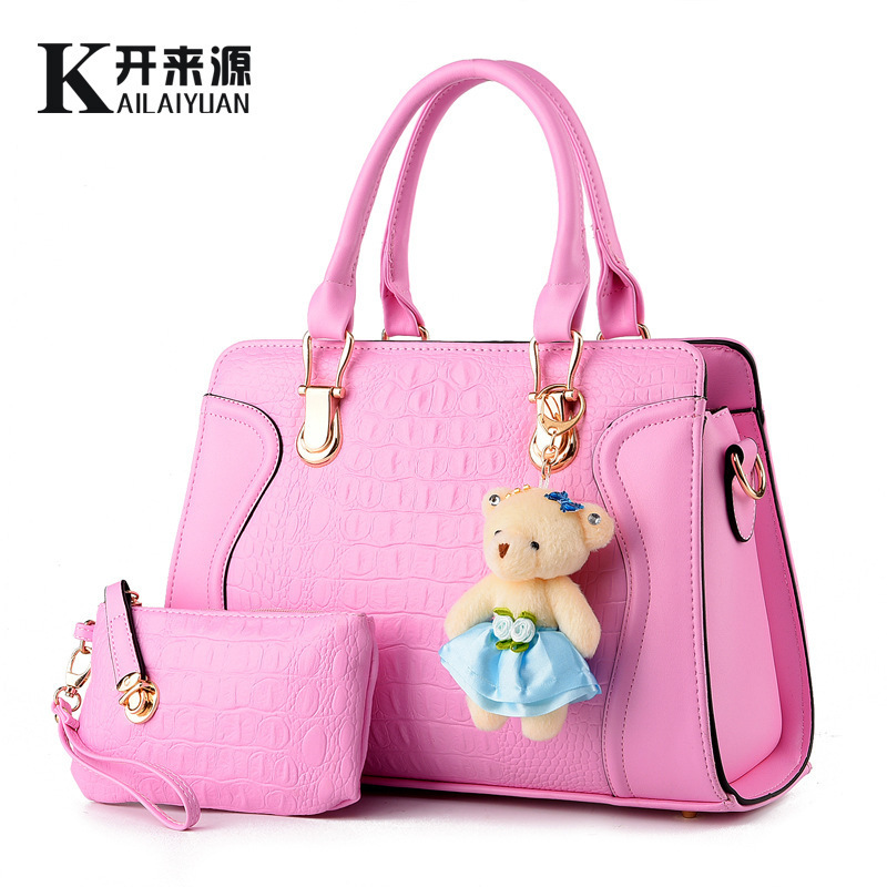 ФОТО Woman Bag 2016 New Pattern Tide Woman Package Korean Smiling Face Child And Package Little Bear Messenger Single Handbag