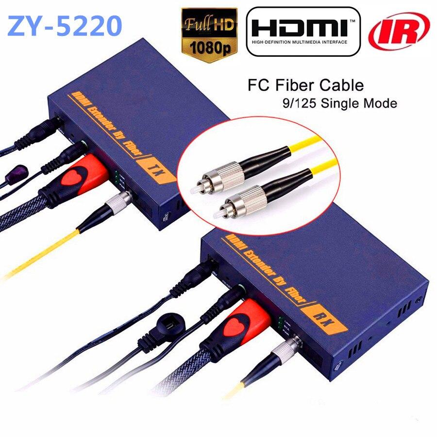LKV378 HDMI волоконно оптический передатчик оптический аудио видео конвертер по IP TCP 1080P HDMI ИК Extender 20 км через SC/FC волокна кабеля