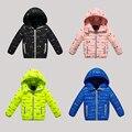 2016 niños del invierno de algodón acolchado Parkas ropa, bebés y de los muchachos con capucha chaquetas de down coat, niños abrigos outwears 18m-15 Años