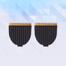 2 шт. только Сменная головка оригинальные лезвия из нержавеющей стали для стрижки волос Триммер лезвия для Kemei KM-605 и KAIRUI HC-001