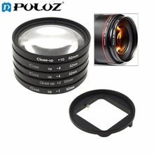 PULUZ 6 in 1 52mm Close-Up Lens Filter Macro Lens Filter + Filter Adapter Ring for GoPro HERO4 /3+