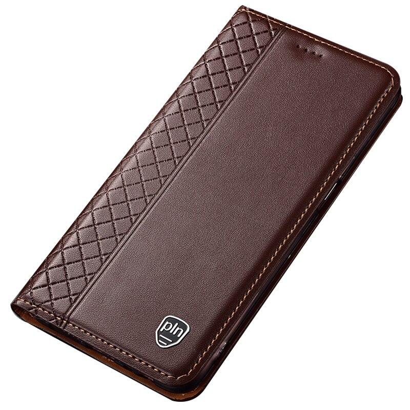 for ZTE Axon 9 Pro Case,Flip Genuine Leather Soft Silicon Back Cover for ZTE A2019 Pro Coque
