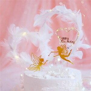 Image 5 - Chúc mừng Sinh Nhật Tiên Quốc Bánh Topper Ren Hoa Lưới Valentine Trang Trí Cho Trẻ Em Gái Dự Tiệc Cung Cấp Nướng Món Quà Dễ Thương
