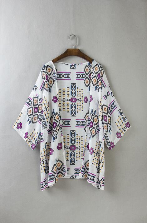 Del Cardigan Como S De Color Verano Playa Gasa La Diamante xl Demostración 2017 Cruz Impresión Nueva Solar Enrejado Tamaño Protector Kimono I4awO