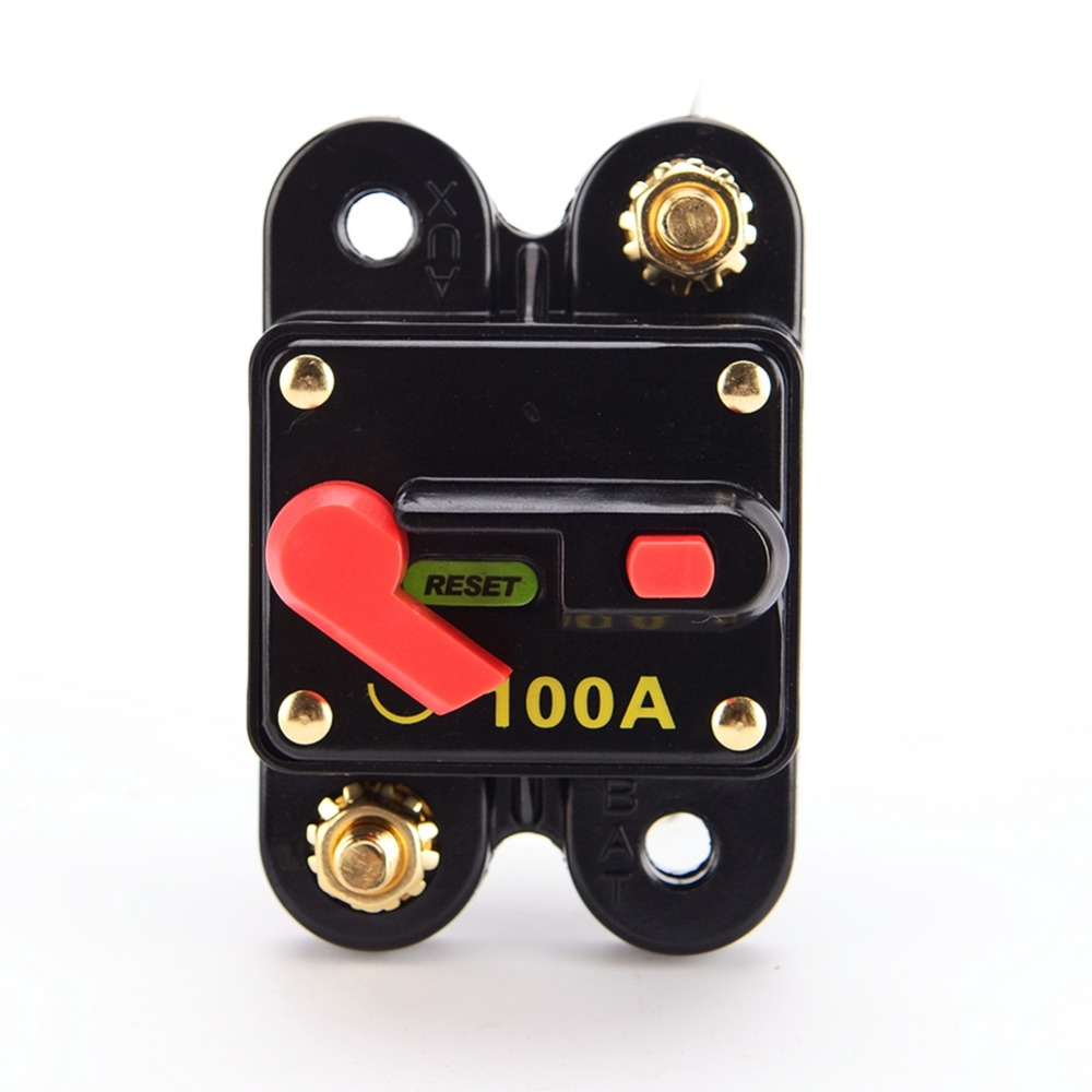 12v 100 150 200 amp car switch manual reset fuse holder circuit breaker switch [ 1000 x 1000 Pixel ]