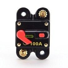 12V 100/150/200 Amp Car Switch Manual Reset Fuse holder Circuit Breaker For SUV Boat Battery