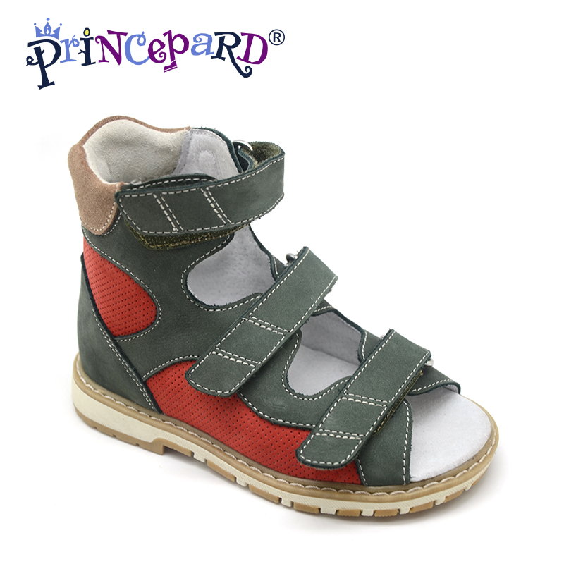 Princepard Need Customize in Advance 20 days New green othopedic footwear for boys  3 colors of orhopedic shoes for kids days of reading
