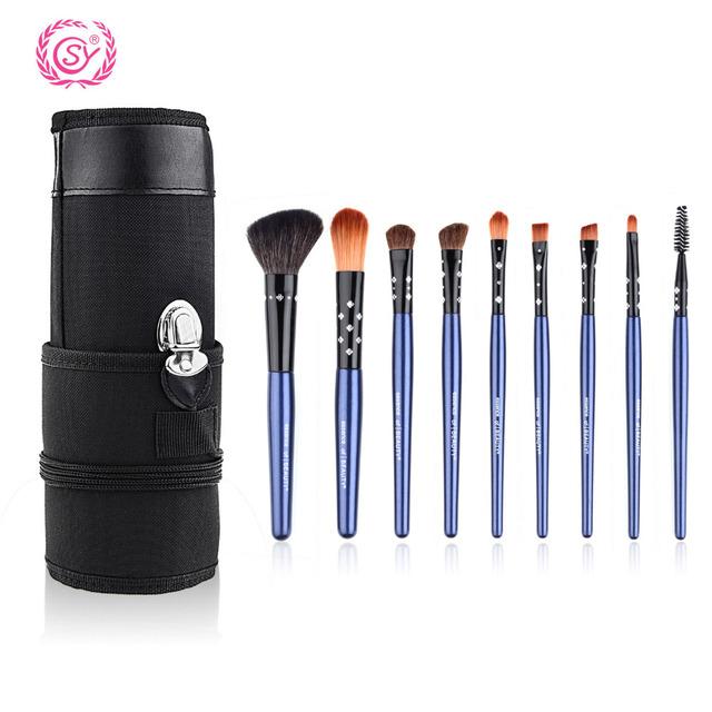 9 pcs Pincéis de Maquiagem Contorno Corretivo Iluminador Fundação Pincéis Para maquiagem Beleza Cosméticos Ferramenta Pincel Escova Maquillage Pinceaux