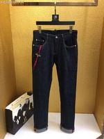 Новинка 2018 Высокое качество модные джинсы для подиума летние человек Роскошные брендовые Мужская одежда A08391