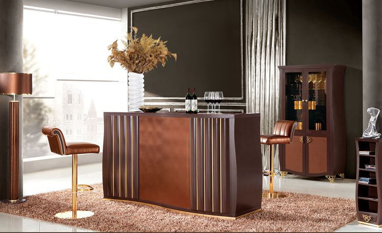 Mobilier italien maison de conception moderne armoire salon meubles bar ensemble table de bar - Table de salon bar ...