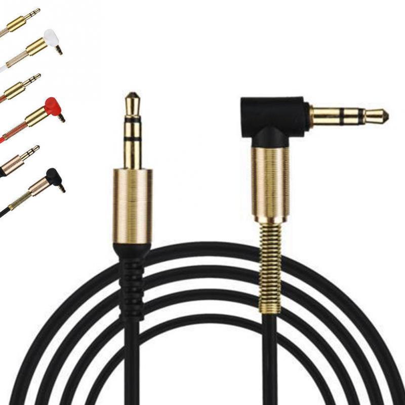 2018  Audio Cable Gold Plating 3.5mm Male To Male Car Aux Auxiliary Cord Jack Stereo Audio Cable For Phone MP3