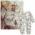 TWINSBELLA Новорожденного Ребенка Детский Комбинезон Весна Новая Детская Мальчики Девочки Pattern Печати Восхождение Одежды Осень Мужская Хлопка Младенца Комбинезон