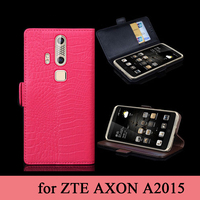 High Quality Flip Business Phone Cover For ZTE AXON A2015 100 Genuine Leather Case Bag Tempered