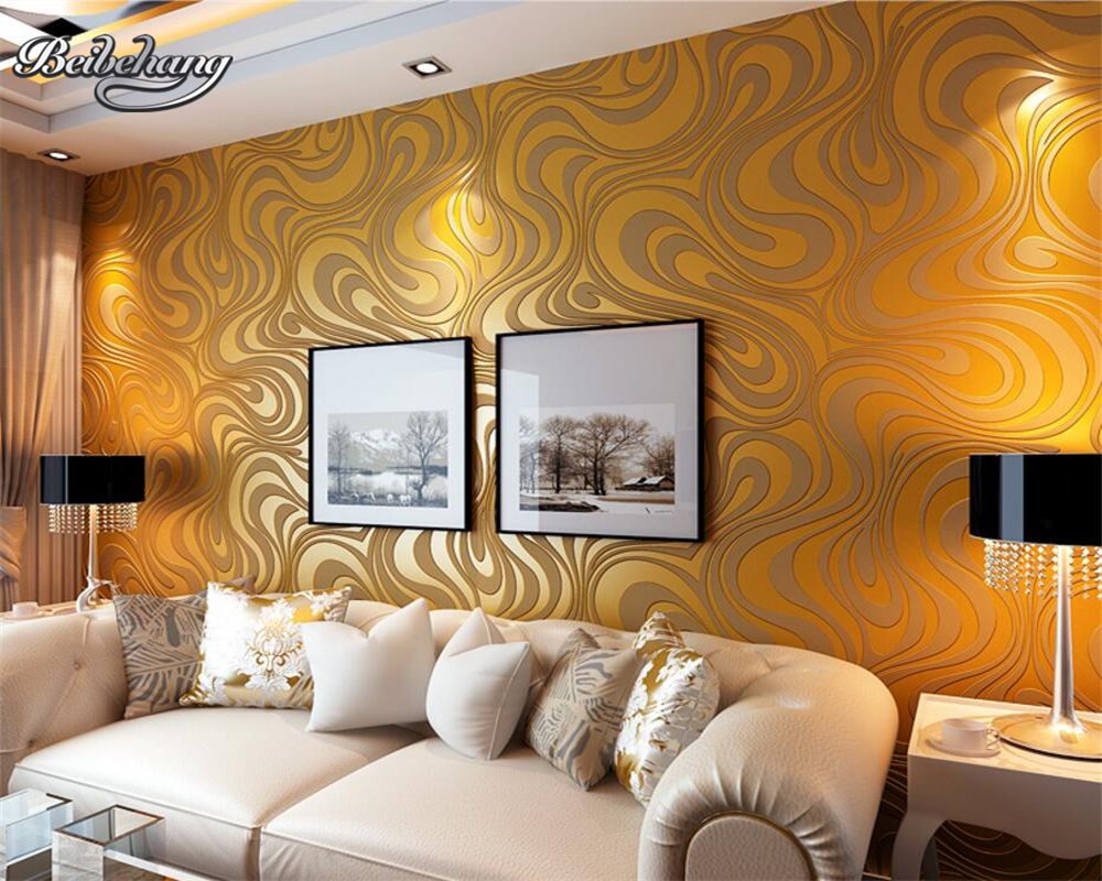 Beibehang Purple Black Flocking Striped Wallpaper Sprinkle Gold Wallpaper Roll High Quality Modern Home 3D Wallpaper papel tapiz beibehang high quality modern home tree