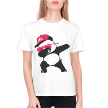 Summer Tops For Women White Short Sleeve O-Neck T Shirts Cotton Tshirt Funny Panda Dabbing Print Woman Clothing Female Tees Top new fashion t shirts for women harajuku tops eye print short sleeve tees cotton female tshirt woman white tee top camiseta mujer