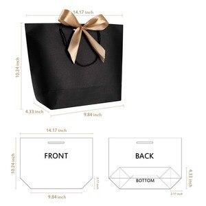 Image 2 - Emballages boîtes cadeaux poignée or 10 pièces
