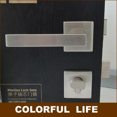 Modern minimalist high-grade Square door clock sets,Genuine SUS304 stainless steel, home,door handles locks sets