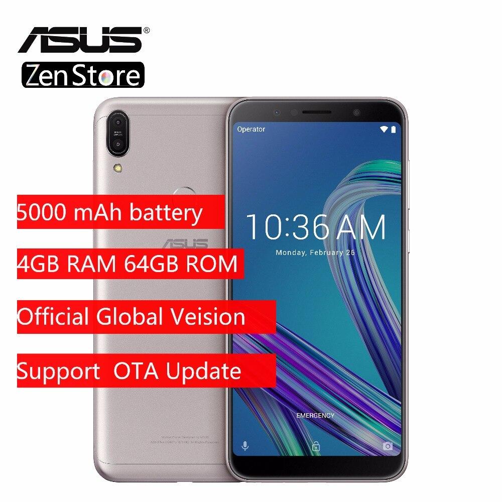 Asus ZenFone Max Pro (M1) ZB602KL Mondial Version SnapDragon 636 Android 8.1 4 GB 64 GB 6 pouces 18:9 FHD + Téléphone Visage ID 5000 mAh
