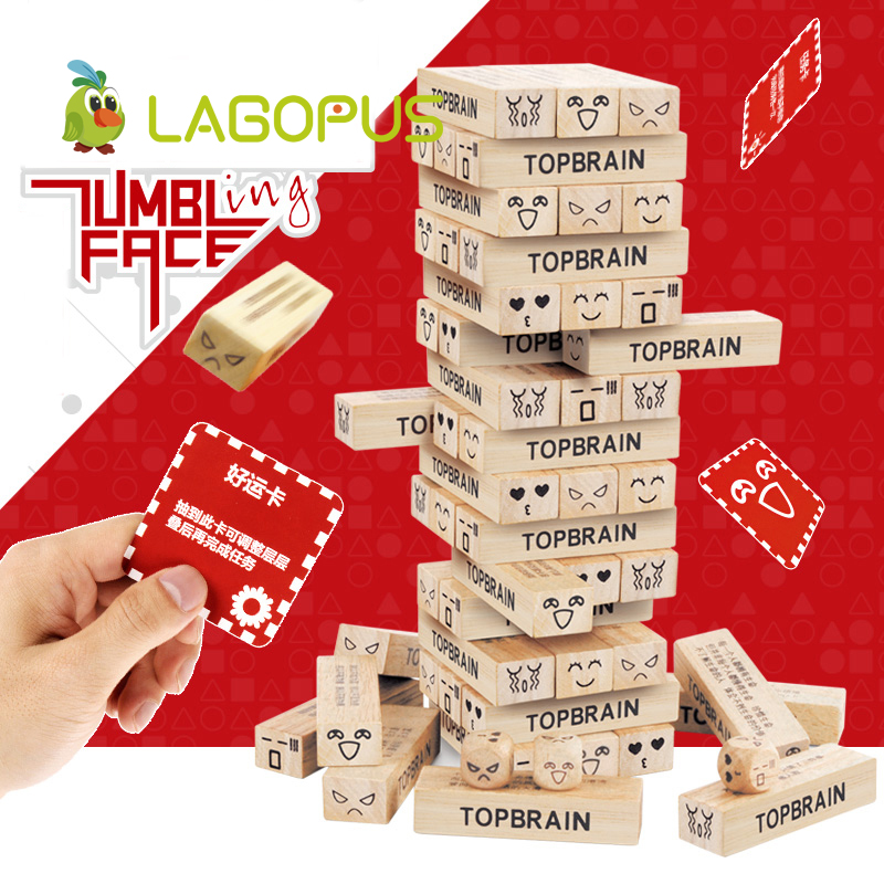 Quality Beech Wooden Toys Building Blocks Toys Domino Stacker Extract Building Educational Jenga Game Kids Gift for Children купить