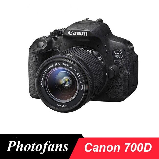 Appareil photo numérique Canon 700D/rebelle T5i DSLR avec objectif 18-55mm-18 MP-vidéo Full HD 1080 p-écran tactile Vari-Angle (nouveau)
