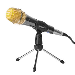Tripod-Bracket Mic-Stand Microphone Adjustable-Holder Desktop-Table Zinc-Alloy