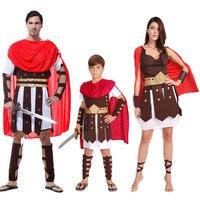 2018 גברים אישה לוחם איטליה רומא העתיקה אדום ילד חייל פורים אספקת שמלת תחפושות תחפושות תחפושת קוספליי מסיבת משפחה