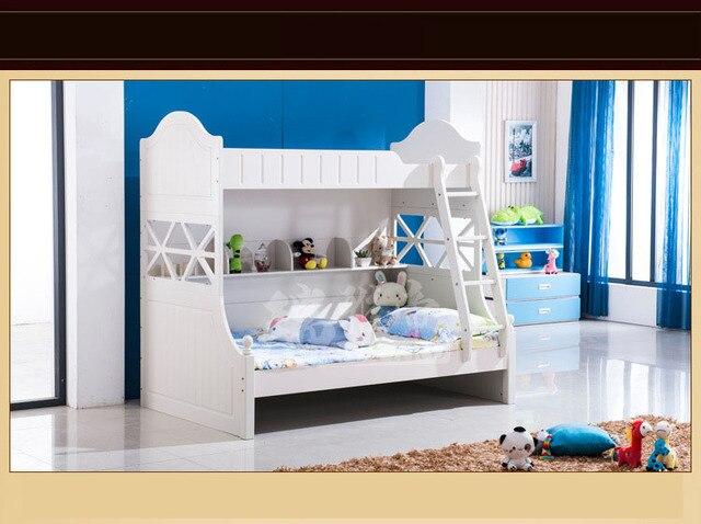 Niños Muebles De Dormitorio de Madera Maciza Marco de la Cama alta ...