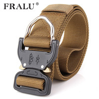 FRALU Combat Heavy Duty Knock Off Tactical Belt Men US Soldier Military Equipment Army Belts Sturdy