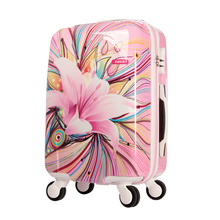 Fashion Women Travel Suitcase High Quality Luggage ABS+PC Universal Wheels Trolley Luggage Travel Bags 20″ Rolling Luggage