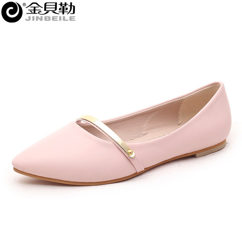 2016 New Design Fashion Female Flat Shoes Women's Slip On Dress Shoes Office Ladies Spring Summer Women's Loafers Shoes