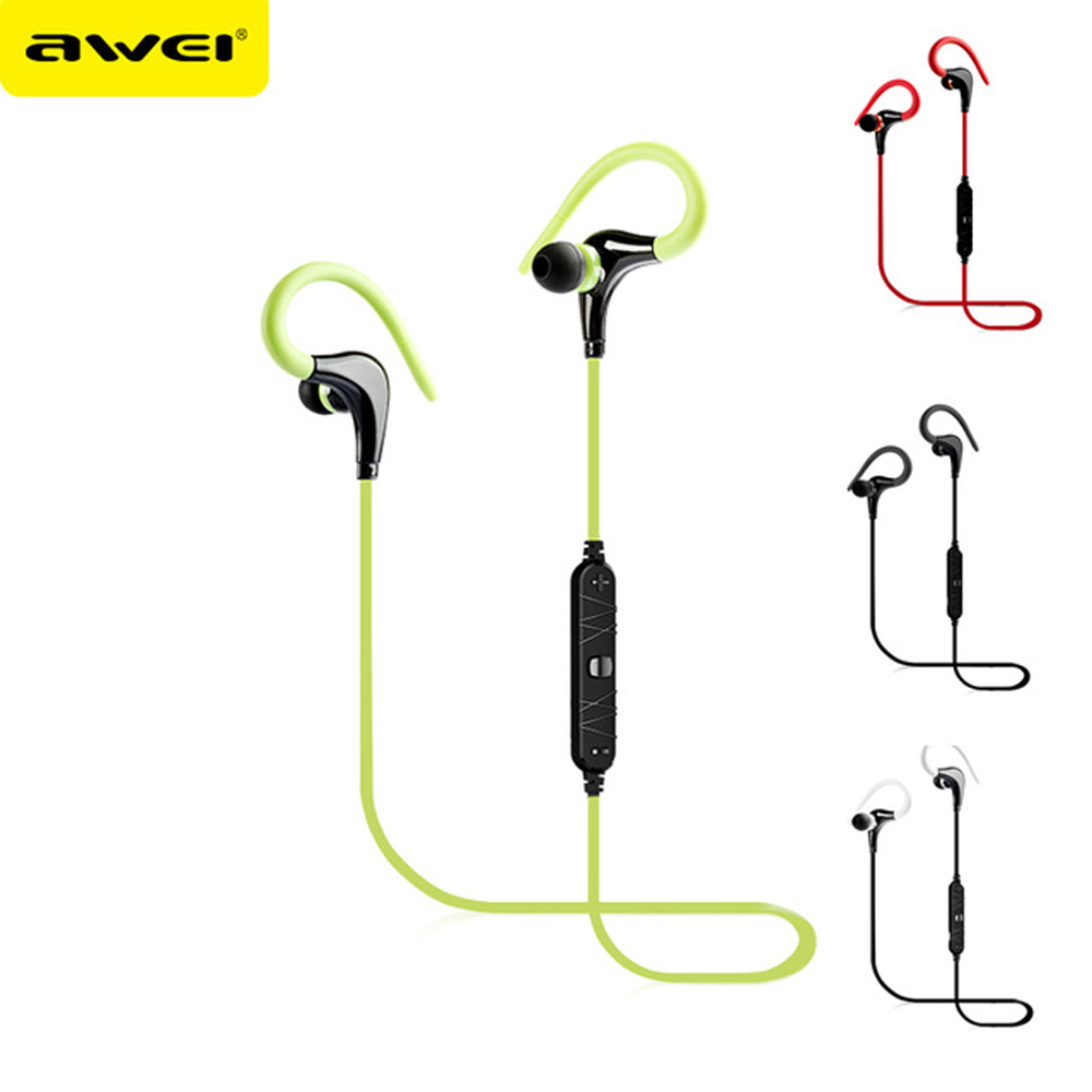 Awei Blutooth Sport Headset In-Ear Cordless Wireless Headphone Auriculares Bluetooth Earphone For Your In Ear Phone Buds Earbud 6