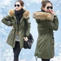 Winter Women Big Fur collar cotton coat Wash cotton Thick Coat cotton Paddd Down jacket Thermal Outerwear plus size QY13011008