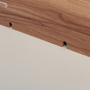 Image 3 - עץ צג מחשב נייד Stand מחזיק Riser מחשב שולחן ארגונית מקלדת עכבר אחסון חריצים עבור ציוד משרדי בית ספר מורה
