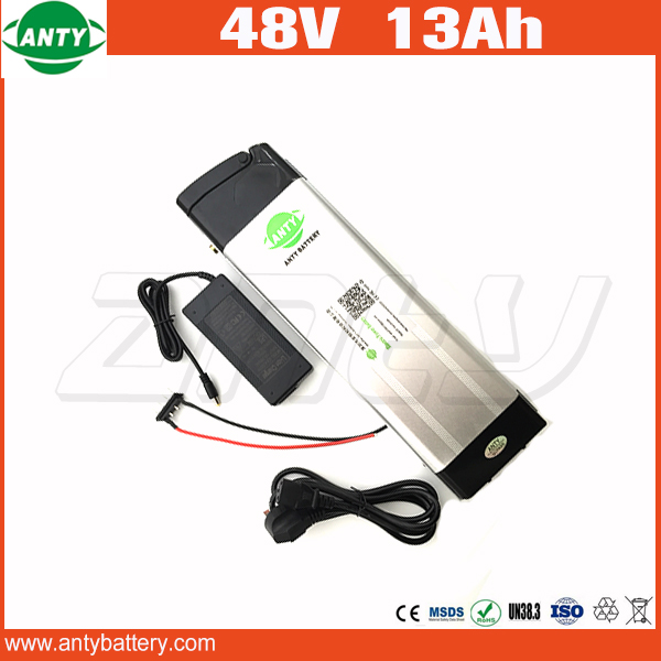 High Power 1000W Electric Bicycle Battery 48V 13Ah Lithium Battery 48v with 2A Charger 30A BMS E Bike Battery 48v Free Shipping free customs taxes super power 1000w 48v li ion battery pack with 30a bms 48v 15ah lithium battery pack for panasonic cell