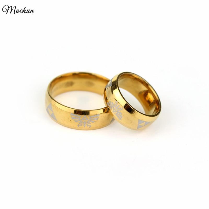 MQCHUN Triforce кольцо из нержавеющей стали для мужчин Размер 7-12