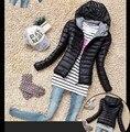 2016 Limitada Zipper Ucrânia Nova Oferta Promocional de Algodão Acolchoado Jaqueta Feminina Com Mangas Mulheres Casaco de Inverno Down & Parkas