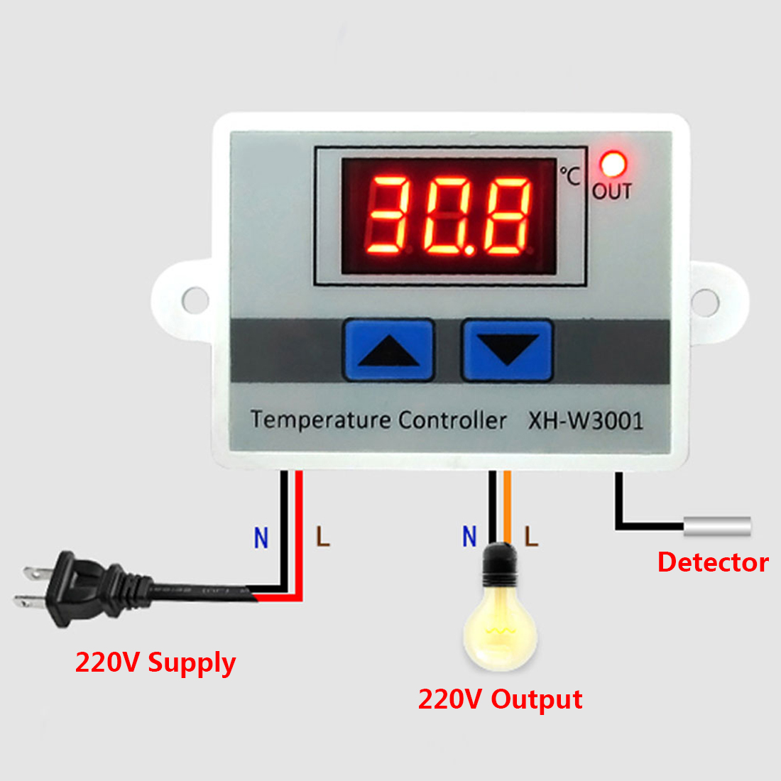Digital Led Thermometer Temperature Controller Ac220v 10a Thermostat Stc1000 Microcomputer 220v W Sensor Incubator Control Probe Weather Station In Instruments From