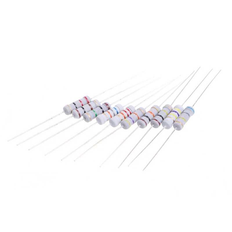 200 Adet 20 Değer 1W Direnç 5% Direnç Ürün Çeşitliliği Kiti 10 ohm-1M ohm Mar28