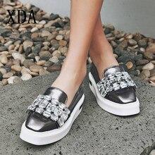 XDA Pearly Lustre Rhinestone Women Flats Shoes
