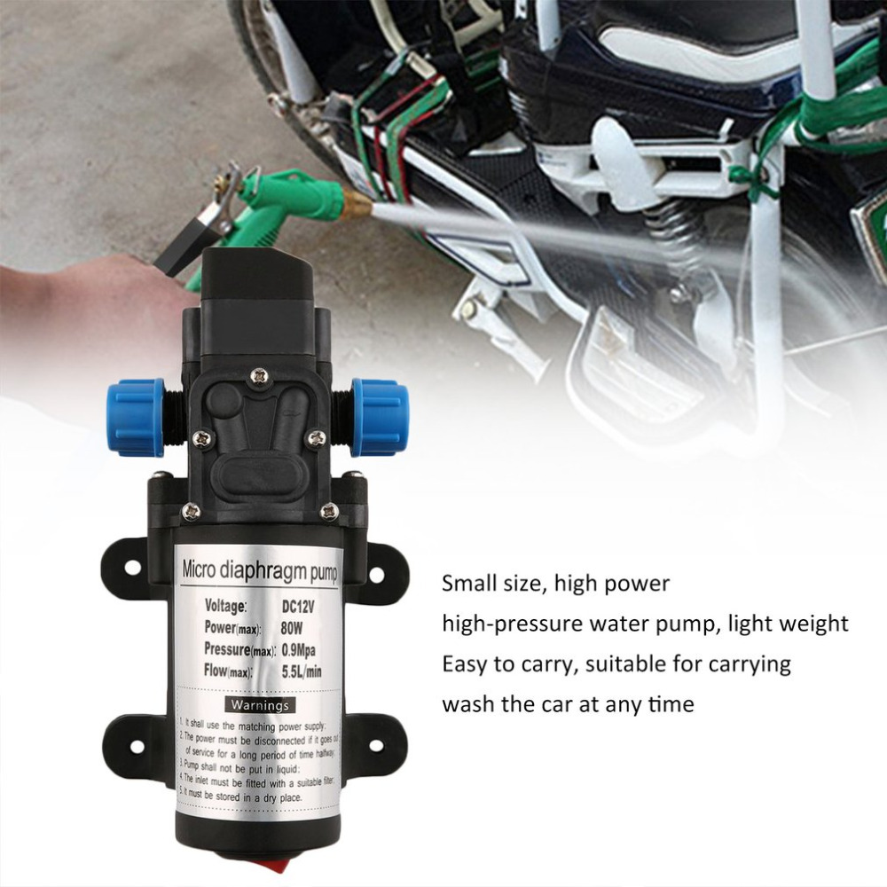 New Portable DC12V 80W High Pressure Electric Water Pump Garden Pool Pump Upgrade Trigger Sprayer For Watering Car Washing Hot high pressure car washing pump 220v ac dp160m hot style