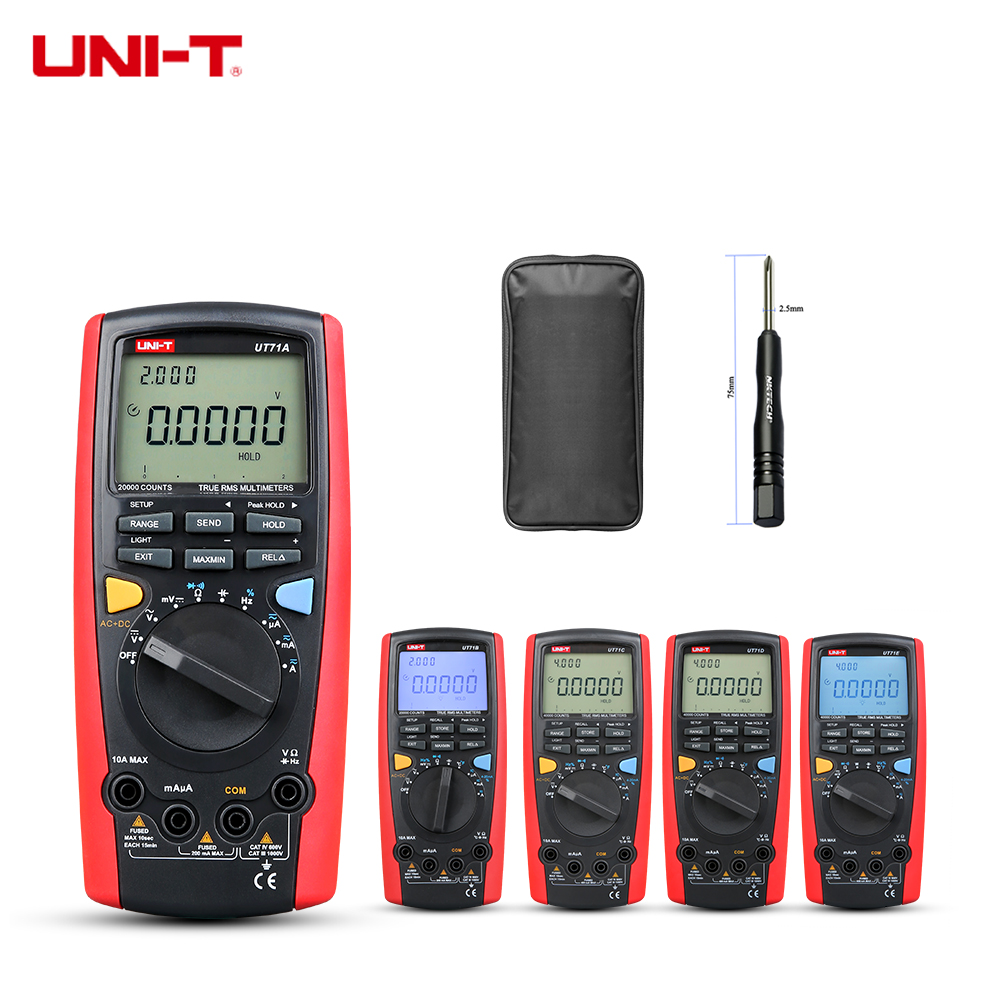 UNI-T Intelligent Digital MultiMeter UT71E UT71D UT71C UT71B UT71A Ture RMS Temperature AC DC Volt A Cap Res Freq Dual Backlight цена